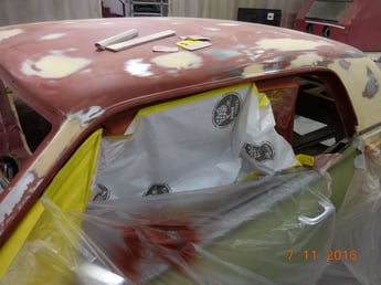 4 Body work in process using 3m Platinum Plus Filler applied over the epoxy primer sealer.-Inv.2645.jpg