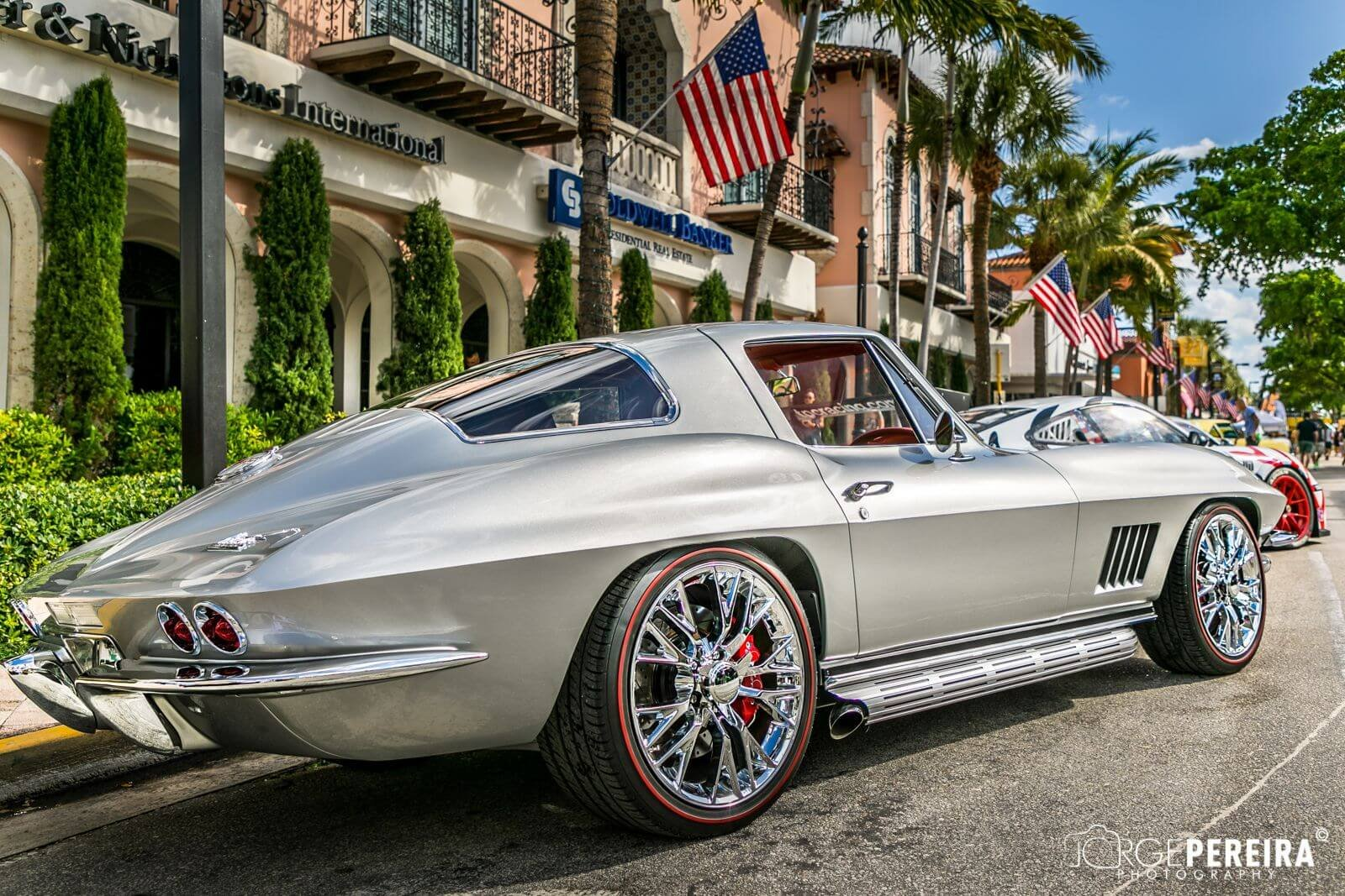 1967 67 Chevy CHEVROLET Script Valve Covers PAINTED Corvette